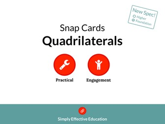 Quadrilaterals (Snap Cards)