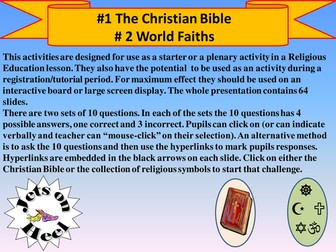 Try for Ten, Christianity and World Faiths Challenges