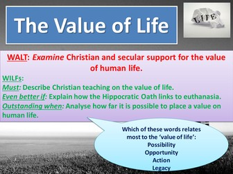 The value of life from a Christian perspective