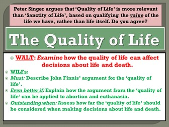 Abortion and Euthanasia: The Quality of Life argument