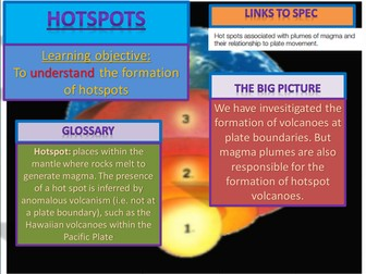 NEW AQA A LEVEL Geography; Hotspot volcanoes and magma plumes