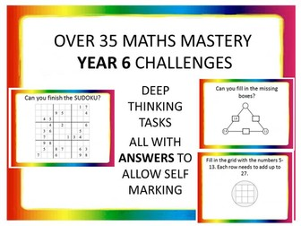 OVER 35 MASTERY MATHS YEAR 6 CHALLENGES