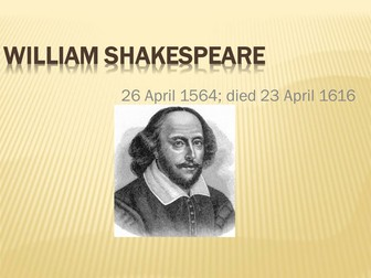 William Shakespeare Introduction PPT