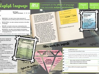 AQA Language exam AO2 learning mat (Paper 1)