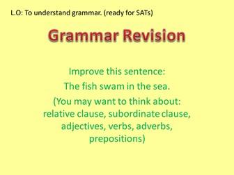 Grammar Revision - Year 6 SATs