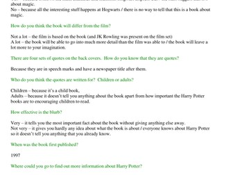 JK Rowling - Harry Potter and the Philospher's Stone - complete Guided Reading