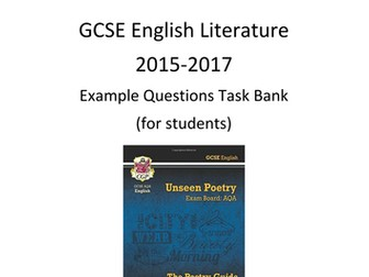 Unseen Poetry Example Questions