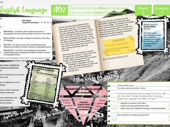 AQA Language Exam AO2 Learning Mat