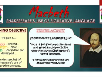 Macbeth: Shakespeare's Figurative Language!