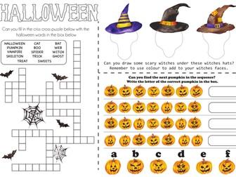 Halloween Activity sheets - Set of 2