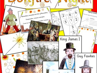 Bonfire Night activity and display pack- Guy Fawkes, Autumn- Assembly