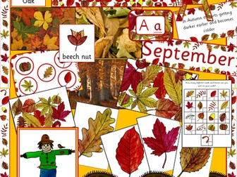 Autumn resource pack- display materials, games, activities, leaf hunting, Powerpoint