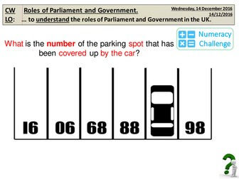5. Roles of Parliament and Government