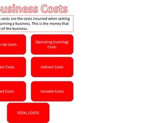 BTEC Business Finance Costs Exemplar presentation