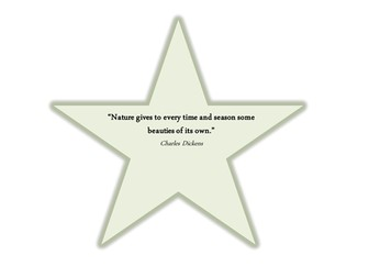 Nature star quotes, can be laminated and placed in outdoor area