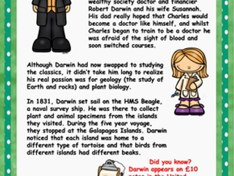 Charles Darwin Reading Comprehension
