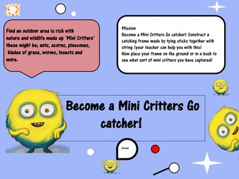 Become a 'Mini Critters Go' catcher!