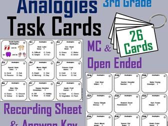 Analogies Task Cards - 3rd Grade