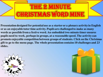 Christmas Special two minute word mine