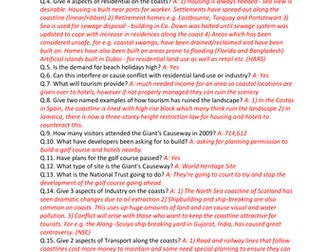 GCSE CCEA Geography Unit 1:A: The Dynamic Landscape COMPLETE Revision