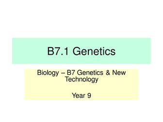 Activate KS3 Science - B7 Genetics & New Technology (V1.0)