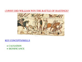 Assessment Essay: Why Did William Win at Hastings?