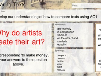 AQA AO1 - comparing and summarising texts