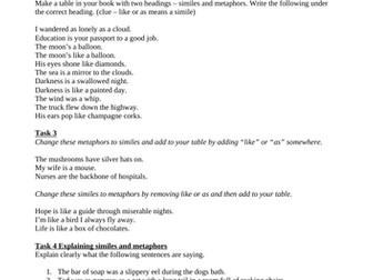 Plot Summary Worksheet Figurative Language Simile Metaphor Personification  Couples Therapy Worksheets Excel with Letter Practice Worksheet Excel Similes And Metaphors Worksheet Equations Of Circles Worksheet Pdf
