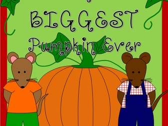 The Biggest Pumpkin Ever story resource pack- Halloween, Autumn