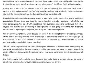 Teaching gravity ks2