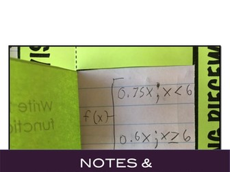 Piecewise Functions Interactive Notebook Notes and Activity