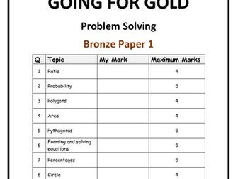 Going for gold! - GCSE problem solving papers
