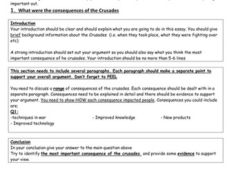 KS3 Crusades Assessment