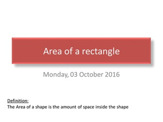 Area an Perimeter of a rectangle