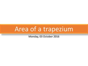 Area of a Triangle & Trapezium