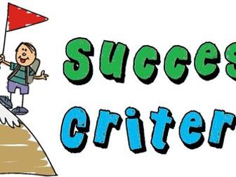 Success Criteria Grids