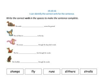 Gruffalo Verbs (Y1)