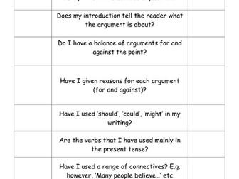 Balanced argument success criteria