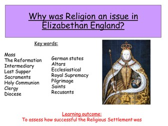 elizabeth s religious settlement of 1558 Early elizabethan england 1558-88 2 the 'settlement' of religion religious divisions in england in 1558 elizabeth's religious settlement.
