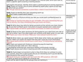 GCSE PE Lessons