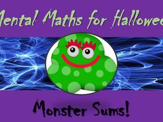 Halloween Mental Maths