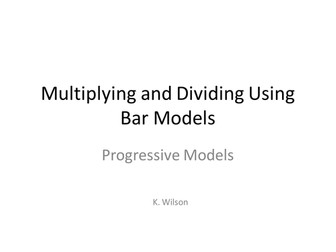 Singapore Bar Modelling for Division and Multiplication - Staff INSET