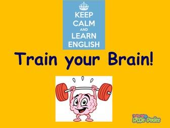 Key Stage 2/KS2 Train Your Brain SPAG starters/revision/plenaries