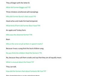 Roald Dahl - Fantastic Mr Fox - a complete half term's guided reading