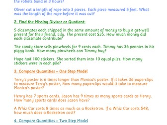 Questions to practise using Singapore Bar Model