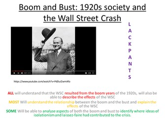 Edexcel Paper 1: Option F LESSON 9 Boom and Bust