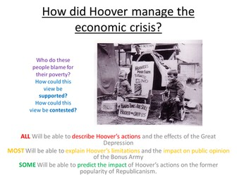 Edexcel Paper 1, Option F: LESSON 10 Was the Great Depression Hoover's fault?