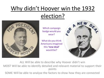 Edexcel Paper 1, Option F: Why didn't Hoover win the 1932 election?
