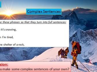 Climbing Mount Everest Descriptive Writing - Complete Lesson + Quiz Pack
