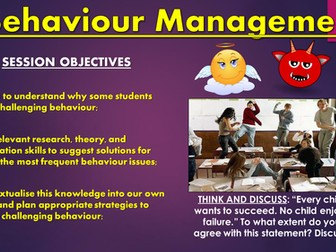 Behaviour Management CPD Session!